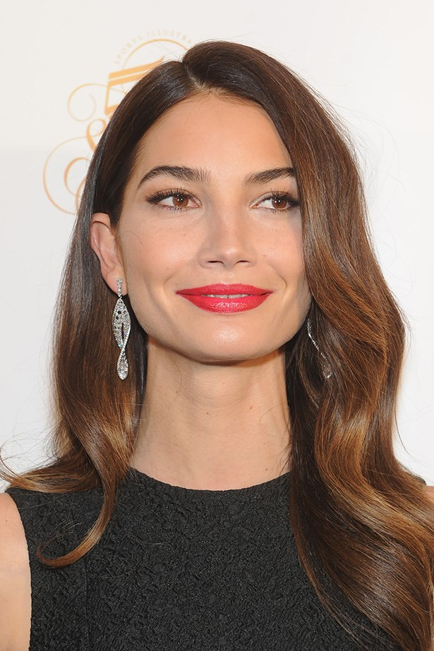 Lily Aldridge celebrates Sports Illustrated Swimsuit 50th birthday with an elegant finger wave.