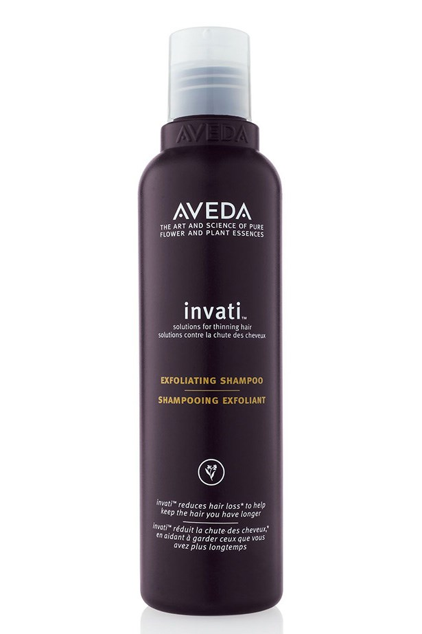 "<p><strong>Exfoliate</strong></p> <p>Exfoliating shampoos will strip follicles and the scalp of silicone residue and dead skin cells – both of which block pores and cause uncomfortable root-residing pimples.</p> Invati Exfoliating Shampoo, $49.95, Aveda, <a href=""http://aveda.com.au"">aveda.com.au</a>"
