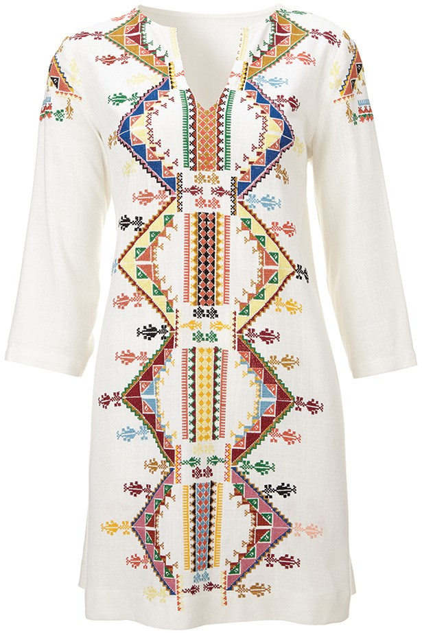 Bohemian smock dress by Kate Moss for Topshop