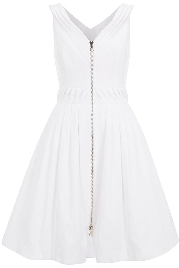 White dress by Kate Moss for Topshop.