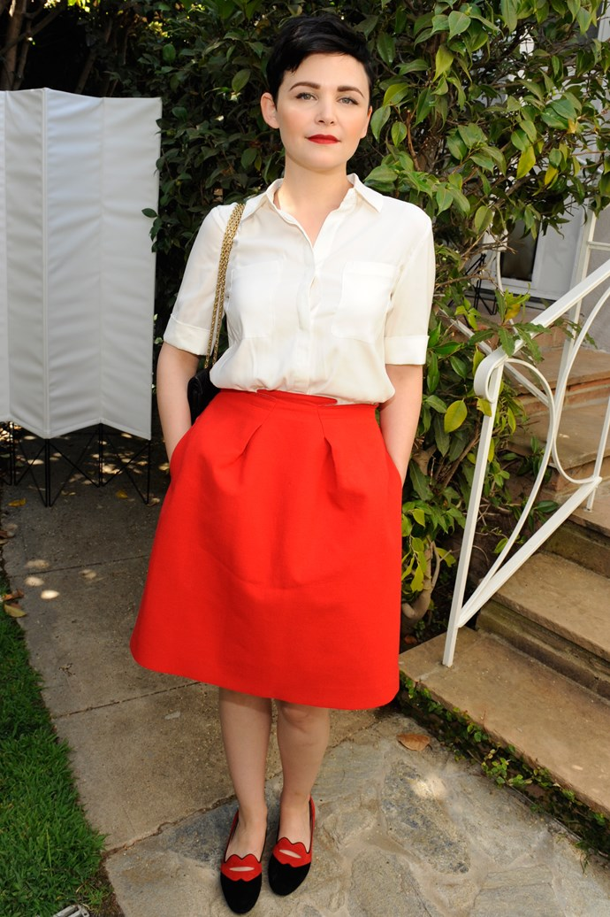 We're swooning over Ginnifer Goodwin's Charlotte Olympia flats.