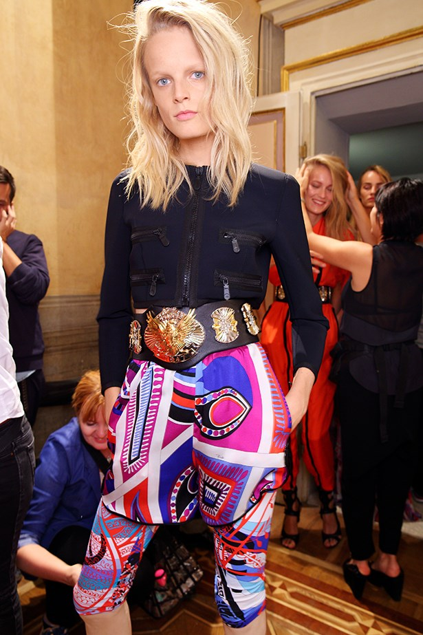 <p><strong>6. Strap on a trophy belt</strong> </p> <p>It's the belt of champions. Make it wide, waisted and extravagantly ornate. </p> <p>Emilio Pucci SS14</p>