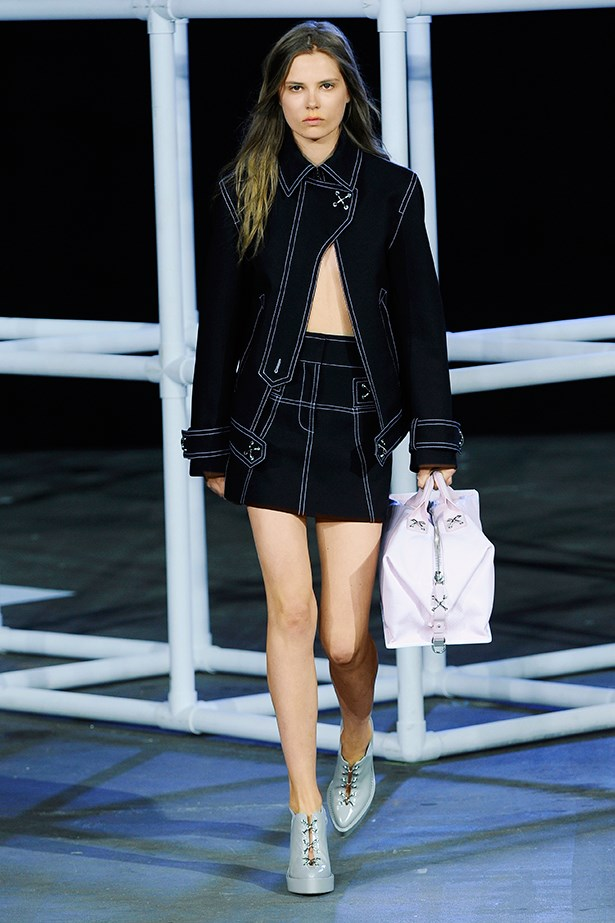 <p><strong>8. Flash some skin</strong></p> <p>Showing just a sliver of skin (or multiple slivers, as seen at Christopher Kane) can catapult the classics into a whole new realm of cool.</p> <p>Alexander Wang SS14</p>
