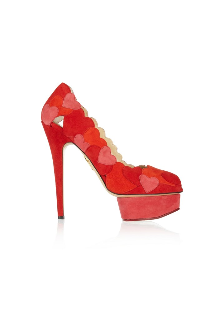 "Heels, $2,176, Charlotte Olympia, <a href=""http://www.net-a-porter.com"">net-a-porter.com</a>"