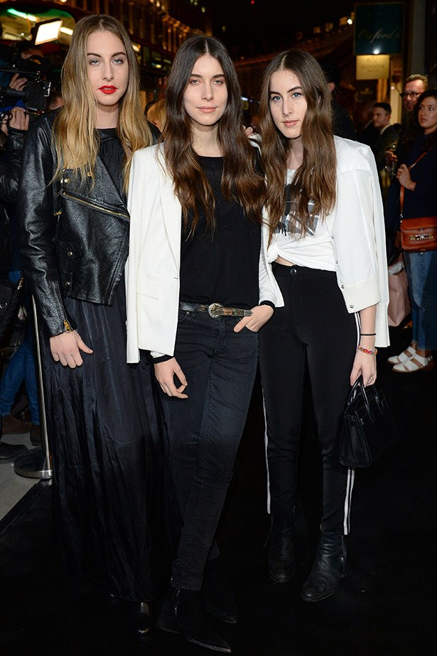 <strong>Haim</strong> <br><br> Let's be honest, considering fashion's current obsession with female musicians, it's only a matter of time until someone taps Haim to design a line of 90s floral dresses, leather jackets and sunset-strip approved rocker tees.