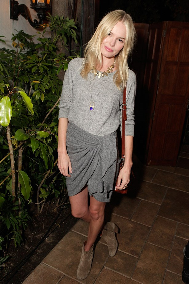 <strong>Kate Bosworth</strong> <br><br> Who wouldn't want to emulate the laidback coolness that oozes out of Kate Bosworth's off-duty style. Skinny white denim, oversized knits paired with shorts and ankle boots… we'd buy in.
