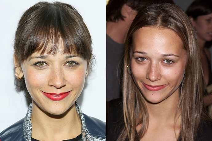 Also a long-time fringe aficionado, Rashida Jones was last seen without a fringe in 2000.