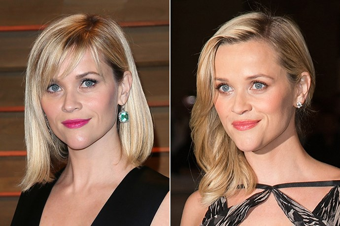 Reese Witherspoon is no stranger to a fringe – going from side-swept beauty-queen at The Devil's Knot premiere in Toronto last year, to shoulder-length chic at the 2014 Vanity Fair Oscar Party in March this year.