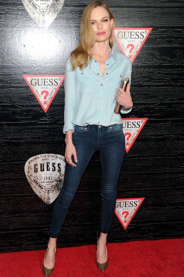 Kate Bosworth can do no wrong. Wearing contrasting washes, offset with clean accessories, she took double denim uptown.