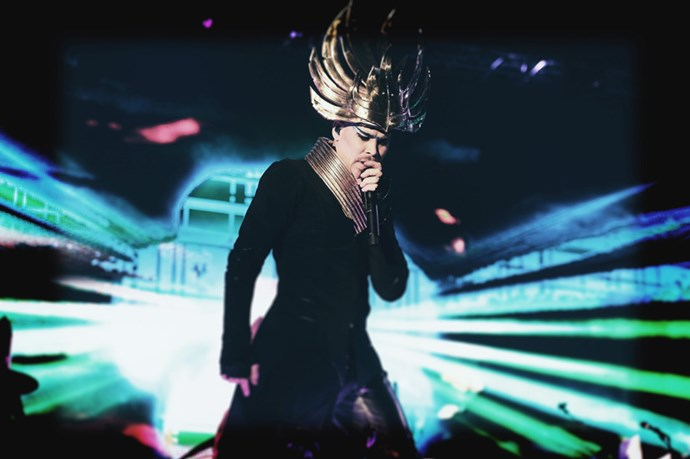"""<strong>Empire Of The Sun </strong> <br><Br> Empire Of The Sun were scheduled at the same time as Pharrell on day two but they did 'get lucky' that a certain synth-electro pop duo didn't appear with them to steal their disco thunder. In any case, Empire were busy making their own: """"Alive"""", """"DNA"""", """"Lux"""" and """"We Are The People"""" were just a few selections rocking the packed-out Sahara """"rave"""" Tent."""