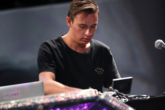 """<strong>Flume</strong> <br><br> Already a household name in Oz, 22-year-old Flume laid down the hip hop sounds American audiences love during his Coachella debut – including """"Space Cadet"""", his collaboration with Ghostface Killah - and paid lip service to other performers, dropping tracks like Disclosure's """"You & Me"""" and his electro synth reworking of Lorde's """"Tennis Court""""."""