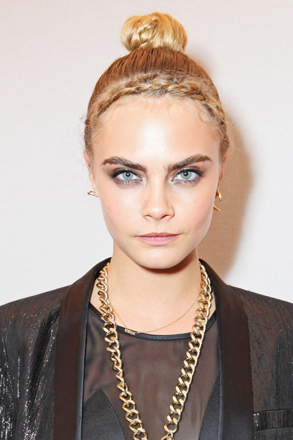 Cara Delevingne with braided hair