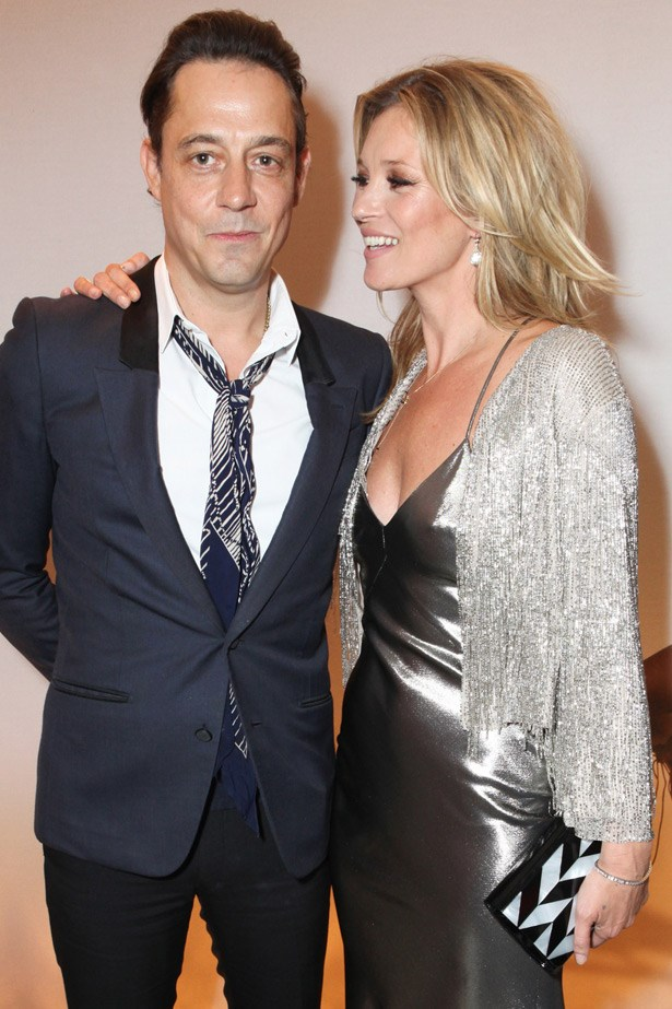 Loved up: Kate Moss with husband, Jamie Hince.