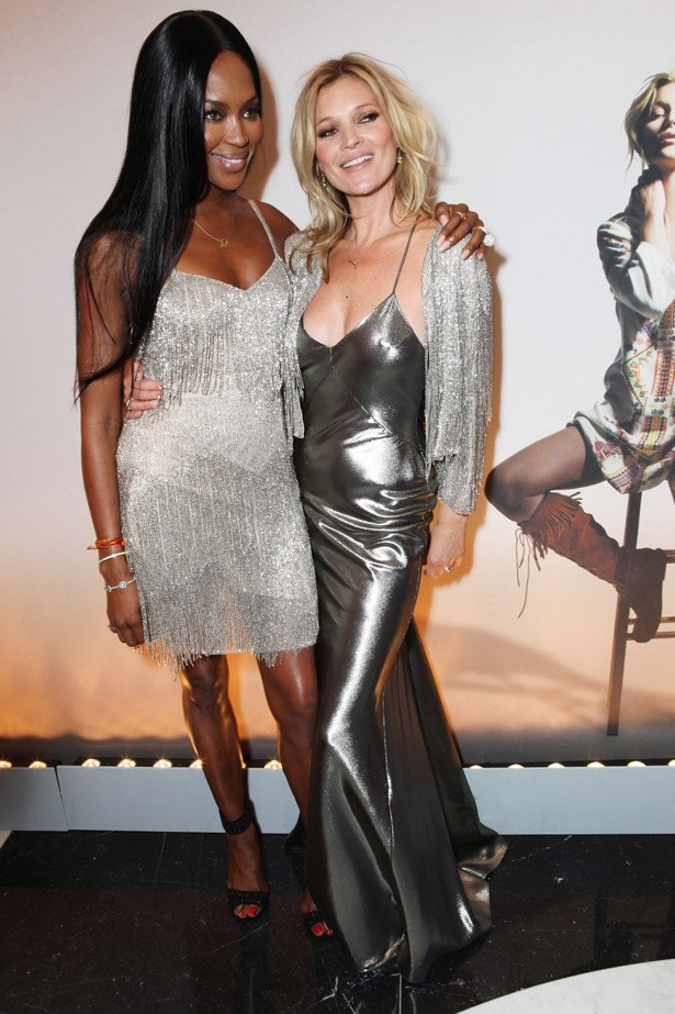 Kate Moss with old friend, Naomi Campbell
