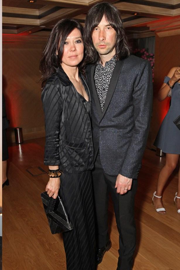 Stylist Katy England with her husband, Primal Scream frontman Bobby Gillespie.