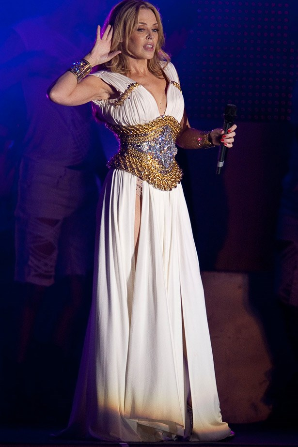 After the 2010 release of her eleventh studio album, <em>Aphrodite</em> Kylie transformed herself once again, this time as a glamorous Grecian goddess.
