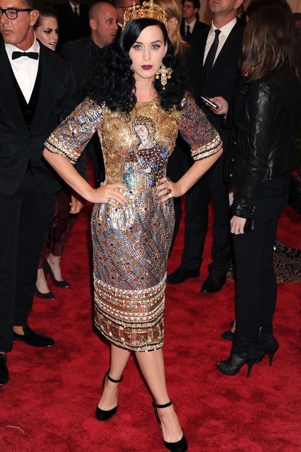 Katy Perry in Dolce & Gabbana, 2013. Theme: Punk: Chaos to Couture.