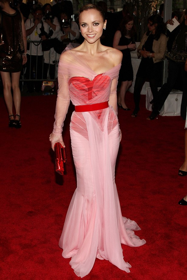 Christina Ricci in Givenchy, 2008. Theme: Superheroes: Fashion and Fantasy.