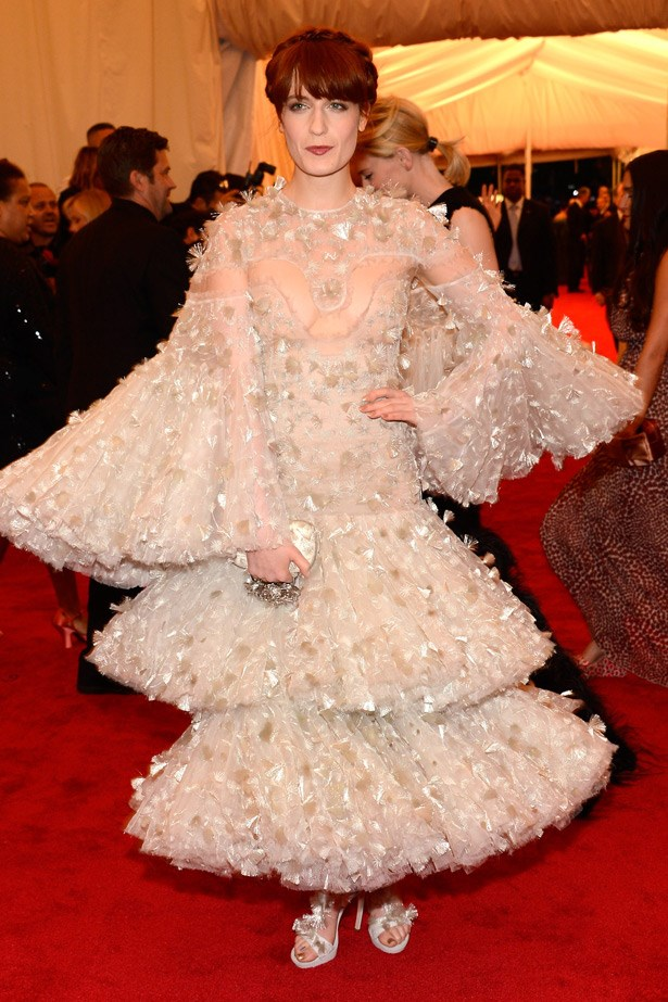 Florence Welch in Alexander McQueen. 2012. Theme: Schiaparelli And Prada: Impossible Conversations