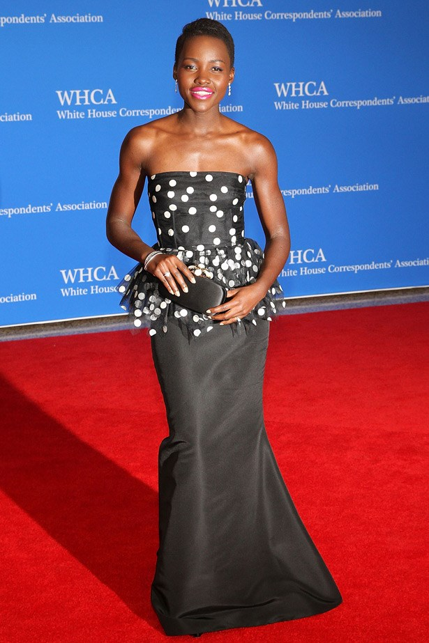 Lupita Nyong'o in Oscar de la Renta.