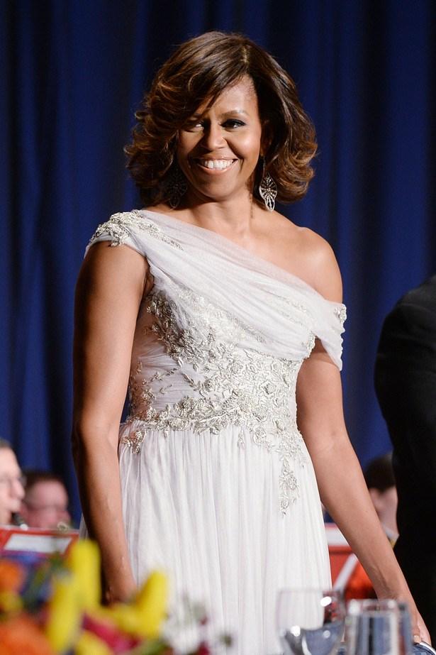 Michelle Obama in Marchesa.