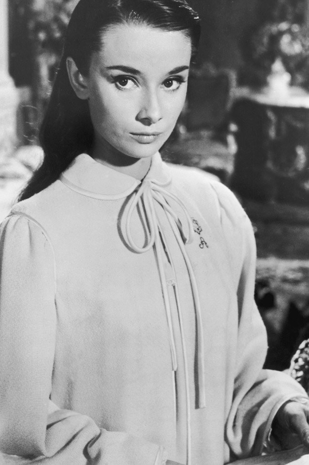 Audrey Hepburn in <em>Roman Holiday,</em> 1953.