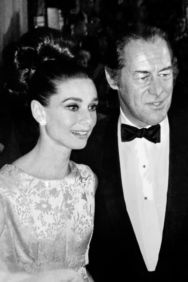 Audrey Hepburn and Rex Harrison in 1964.