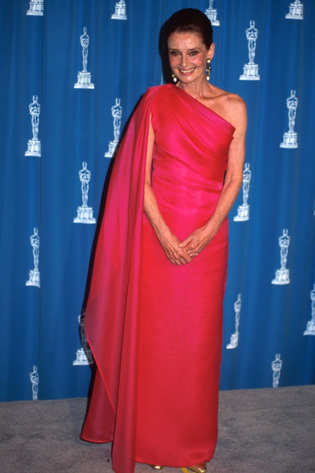 Audrey Hepburn wearing Givenchy at the Oscars in 1992.