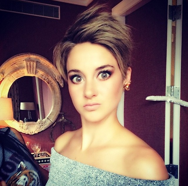 Shailene Woodley's hairstylist posted this shot as she was getting ready.