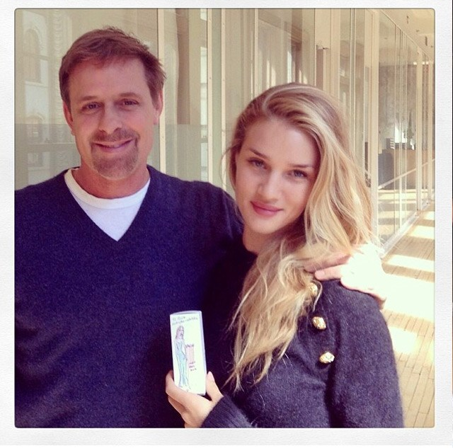 A day before the event, Rosie Huntington-Whiteley visited her dermatologist for a quick glow treatment.
