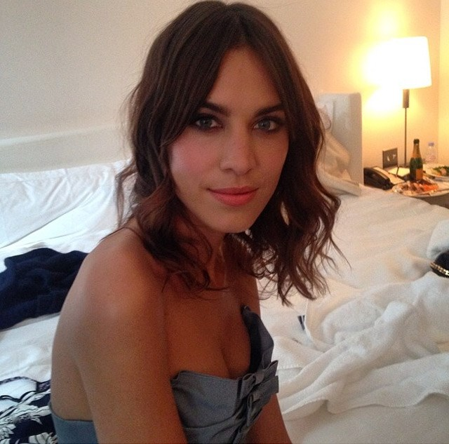 Alexa Chung's makeup artist posted this shot of her smoky eye look.