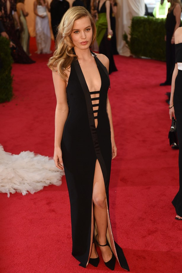 """Looking like true rock and roll royalty, Georgia May Jagger went for this sexy, split gown. <br><br> Related Links: <br><br> <a href=""""http://www.elle.com.au/fashion/celebrity-style/2014/1/georgia-may-jaggers-greatest-fashion-hits-ever/""""> Georgia May Jagger's greatest fashion hits</a>"""
