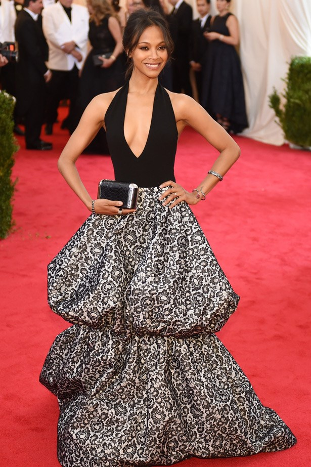 Zoe Saldana rarely puts a foot wrong and looks spectacular in this Michael Kors gown.
