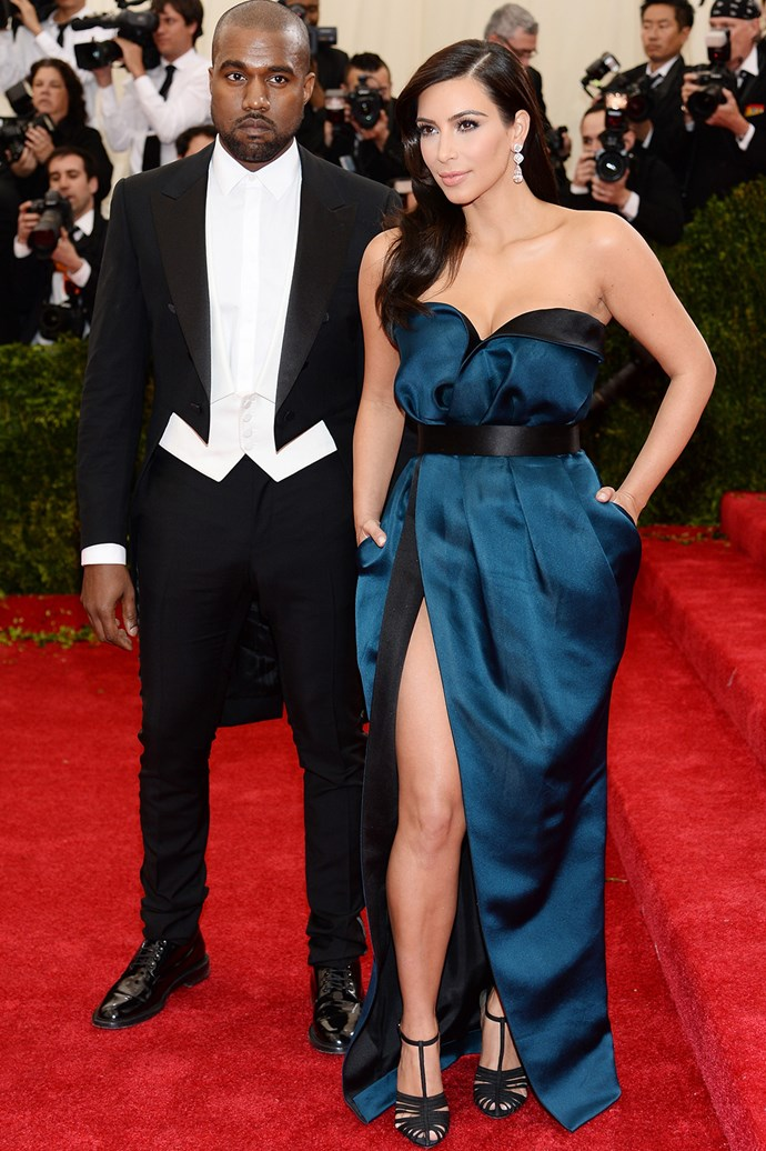 So did they get hitched or didn't they? Kim Kardashian and Kanye West rock up in Lanvin while rumours of secret nuptials circle.