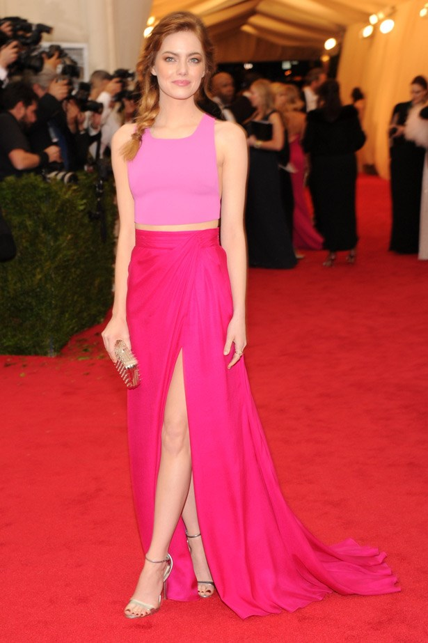 """Emma Stone looked super-radiant, but sadly a little to casual in this fuchsia Thakoon two piece. <br><br> Related Links: <br><br> <a href=""""http://www.elle.com.au/fashion/celebrity-style/2014/5/celebrity-trend-grown-up-crop-tops/"""">Celebrity Trend: Grown-up crop tops</a> <br><br> <a href=""""http://www.elle.com.au/fashion/celebrity-style/2014/4/emma-stones-best-looks/"""">Emma Stone's best looks</a>"""