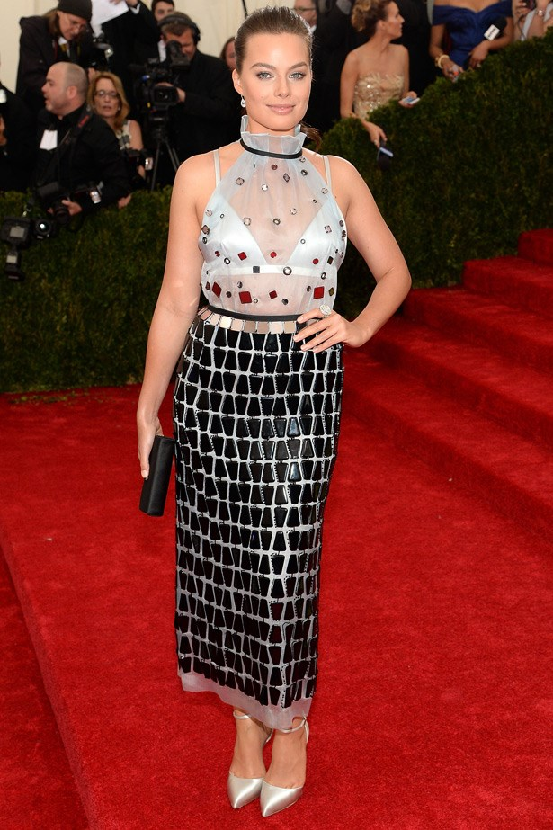 """While we love ELLE covergirl Margot Robbie and we love Prada, we're still on the fence about this look on her. <br><br> Related Links: <br><br> <a href=""""http://www.elle.com.au/pop-culture/elle-interview/2014/3/theres-something-about-margot/"""">There's something about Margot</a>"""