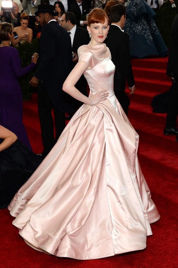 Model and singer Karen Elson in another spectacular Zac Posen gown.