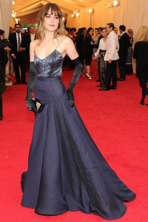 <em>Fifty Shades Of Grey</em> star Dakota Johnson channels the book's dark sultriness in this Jason Wu gown. A favourite.