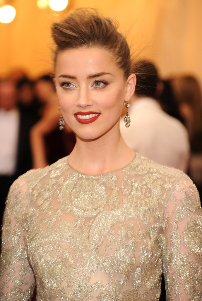 Amber Heard wearing Giambattista Valli Spring 2013 Couture gown with Fred Leighton jewels.
