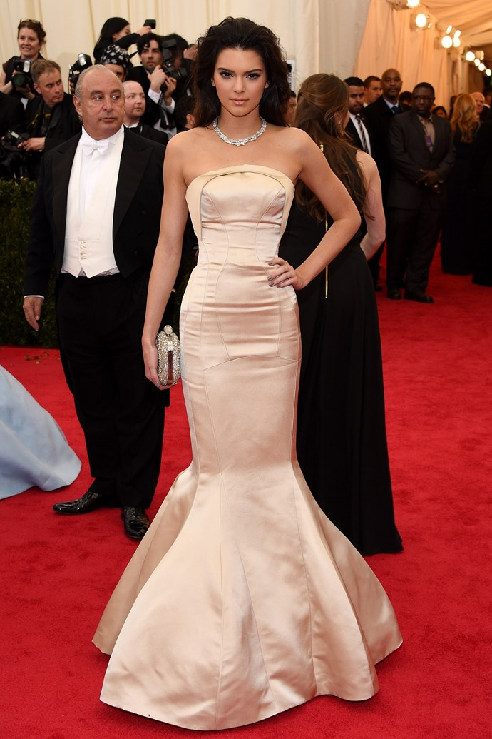 <strong><em>Best Debut By A (Kinda) Kardashian</em>: Kendall Jenner</strong> <br><br>Kendall does what Kim failed to last year: making a Met Gala debut with dignity.