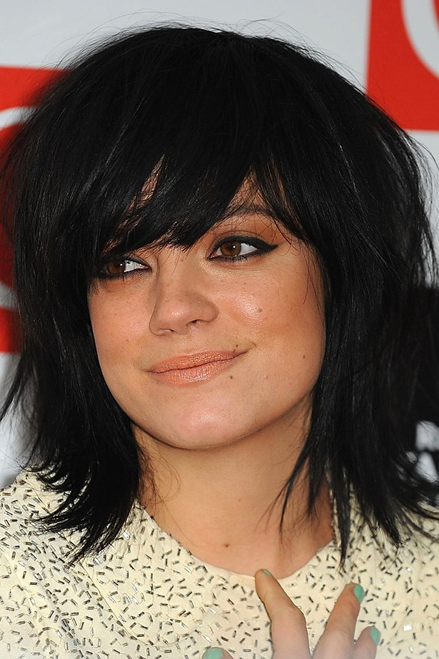A choppy bob and smoky eye is reminiscent of another music icon, Joan Jett.