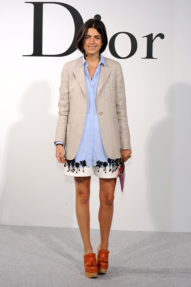 Palm-trees, chambray and a beige sports jacket. Man Repeller blogger Leandra Medine tries bi-coastal dressing.