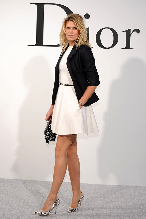 "Model and DJ Alexandra Richards went for a more classic look than her usual M.O of sexy-rocker chic, also dressed by Dior. <br><br> Related Links: <br> <a href=""http://www.elle.com.au/news/fashion-news/2014/4/alexandra-richards-talks-to-elle/"">She's got legs: Alexandra Richards talks to ELLE</a>"