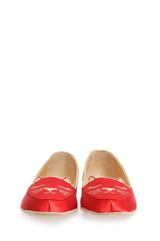 """My mum deserves to put her feet up. Why not do it in style?"" - Laura Culbert, Deputy Chief Sub-Editor <br><br> Slippers and eye mask set, approx $561, Charlotte Olympia, matchesfashion.com"