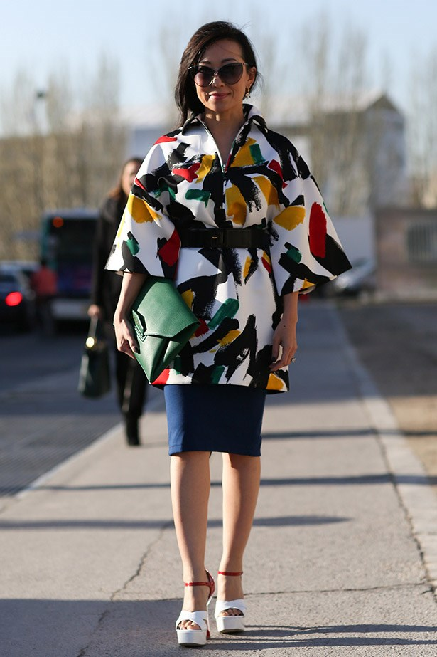 Our version of a technicolor dream coat by Celine.