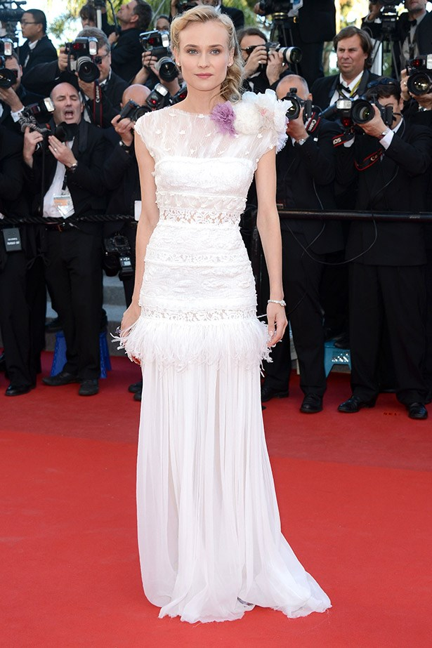 Diane Kruger on the red carpet at Cannes