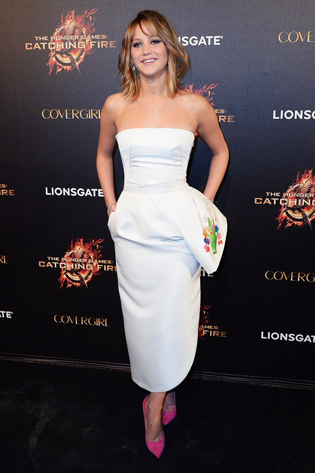 Jennifer Lawrence in Dior in 2013