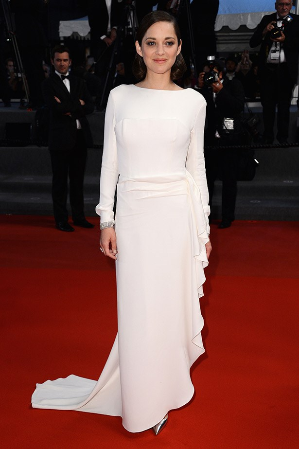 Always a highlight: Marion Cotillard wearing a white gown by Christian Dior