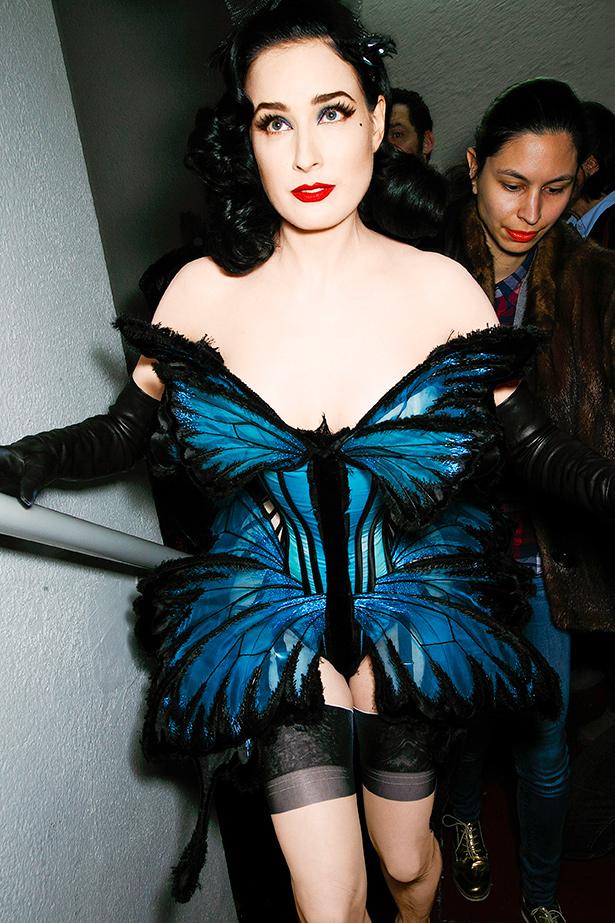 Dita Von Teese wearing Jean Paul Gaultier