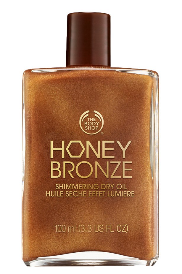 """<p><strong>Best for enhancing a tan</strong></p> <p><em>Honey Bronze Shimmering Dry Oil, $39.95, The Body Shop, <a href=""""thebodyshop.com.au"""">thebodyshop.com.au</a></em><p/> <p>With shimmering bronze flecks this oil adds a perfect touch of bronze to any skin tone. Honey and brazil nut oil provide long lasting hydration.<p/>"""